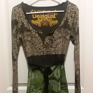 Desigual Dress Floral and Butterfly Fabrics